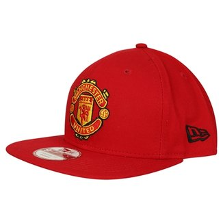 Boné Manchester United New Era 950 Aba Reta Sn Basic Red Masculino 7160fb8b25d
