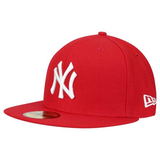 Boné New Era 5950 MLB New York Yankees - Vermelho - Compre Agora ... 3a79db118d1