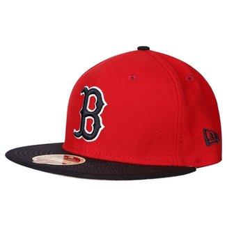 Boné New Era MLB 5950 Wool Standard Boston Red Sox Otc edef88f551d