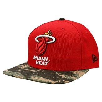 Boné New Era NBA 950 Of Sn Visor Camo Miami Heat 47f98cfce25