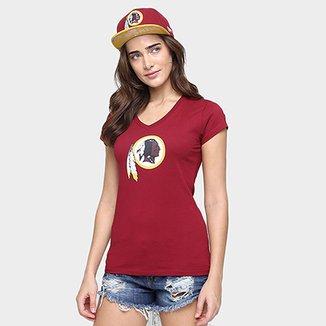 2838788700 Camiseta New Era NFL Babby Look Washington Redskins Feminina
