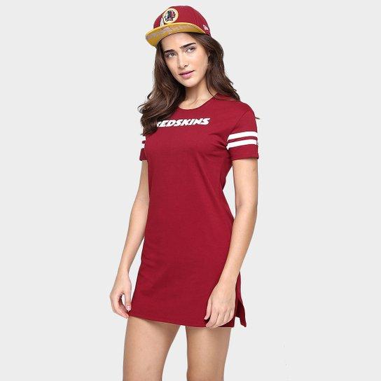 Vestido New Era NFL Listras Washington Redskins - Vermelho - Compre ... d1d10d5436ba4