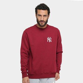 Moletom New Era MLB New York Yankees Pop Crew Masculino 8e8b00c984e