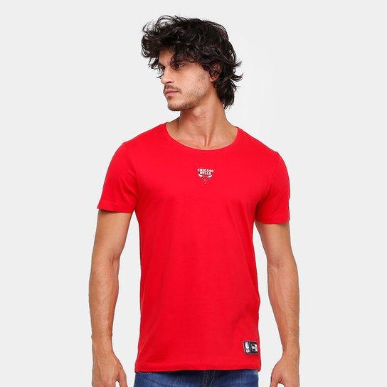 Camiseta NBA Chicago Bulls New Era Mini Logo Masculina - Compre ... 880398e23ab