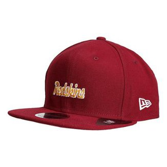Boné New Era NFL Washington Redskins Aba Reta 950 Script d4150a27d97