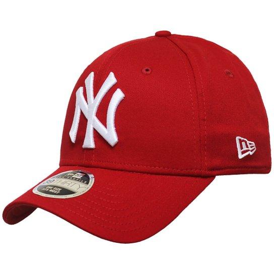 ac16af6ad9ce8 Boné New Era Aba Curva Fechado Mlb Ny Yankees Colo - Vermelho ...