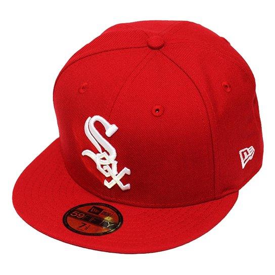 f9221cc519d22 Boné New Era Aba Reta Fechado Mlb Chicago Sox Basi - Compre Agora ...