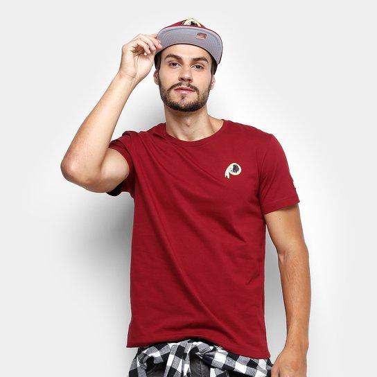 654010256 Camiseta NFL Washington Redskins New Era Team Mini Logo Masculina - Vermelho
