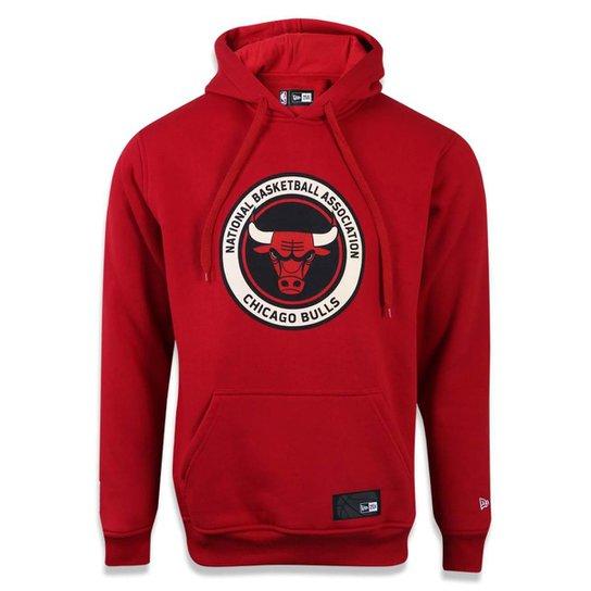 2d00c6e02 Moletom Canguru Fechado Chicago Bulls NBA New Era Masculino - Compre ...
