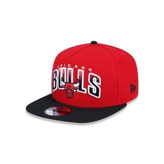 Boné 950 A-frame Chicago Bulls NBA Aba Reta Snapback New Era 2aa780cc668