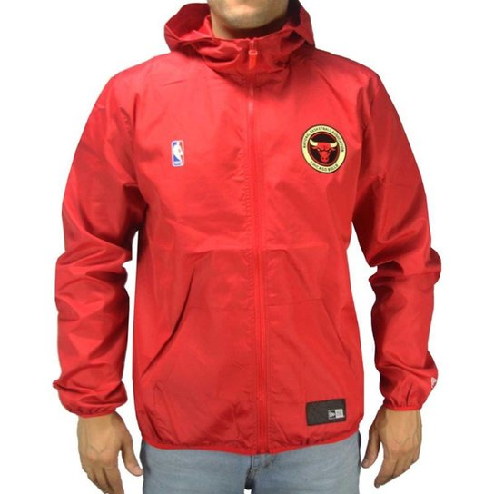 Jaqueta Corta Vento New Era NBA Chicago Bulls Masculino - Compre ... 3614c85a207