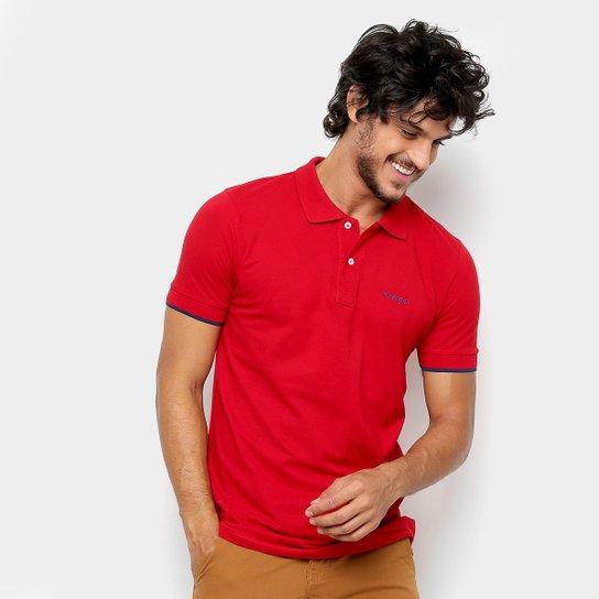 Camisa Polo Wrangler Básica Piquet Logo Bordado Masculina - Vermelho ... 21d4c19d84ebc