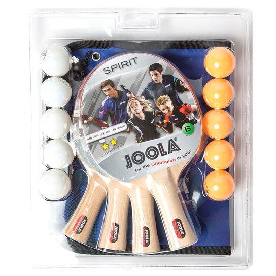696f058bb Kit 4 Raquetes de Ping Pong   Tênis de Mesa c  10 Bolas Joola ...