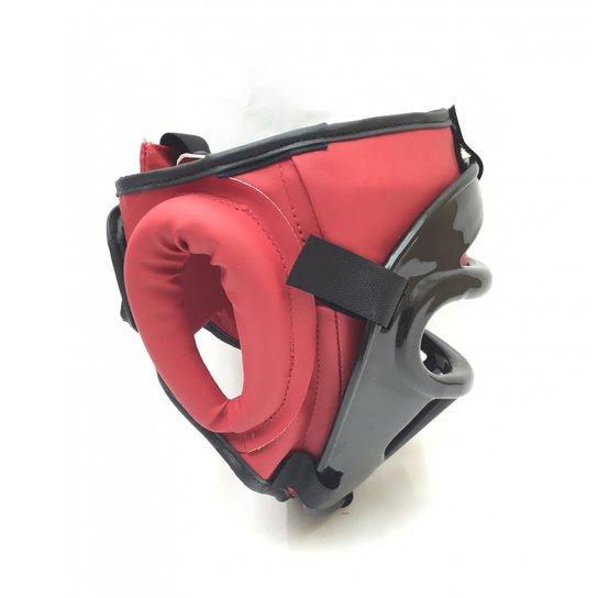 Protetor De Cabeça Capacete Com Grade Muay Thai Boxe Karate - Compre ... edb5628c47