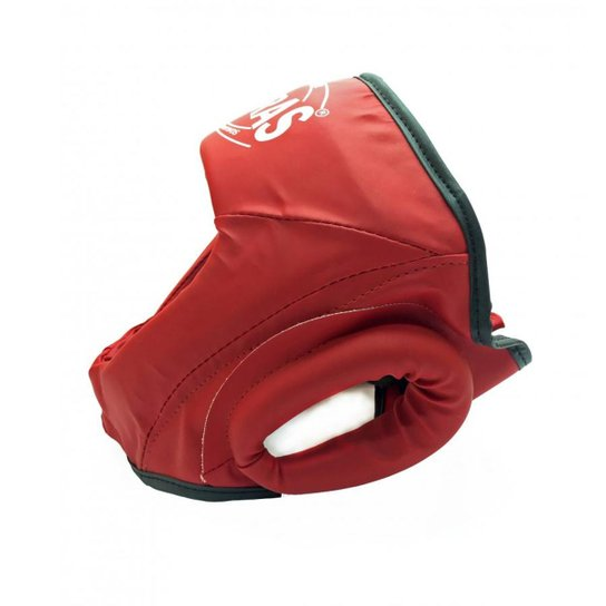 Protetor de Cabeça Capacete Sem Grade Fheras - Vermelho - Compre ... 337aca6032