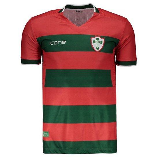 4b1ff6dde Camisa Ícone Sports Portuguesa I 2018 Masculina - Vermelho