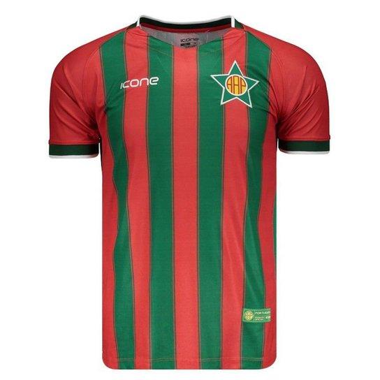 Camisa Ícone Sports Portuguesa RJ II 2018 Masculina - Vermelho ... 7c6c1b37b97cb