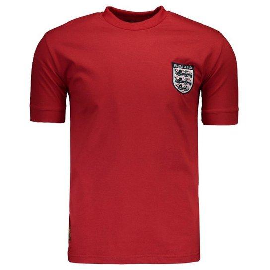 b31303fafe343 Camisa Inglaterra Retrô N° 9 Masculina - Vermelho - Compre Agora ...