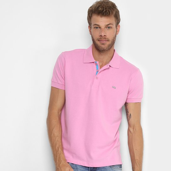 Camisa Polo Gangster Piquet Com Elastano Masculina - Rosa Escuro ... 5e946b46889ad
