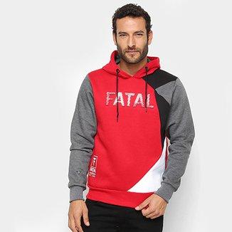 Moletom Fatal Geométrico Logo Capuz Masculino 53308be838c
