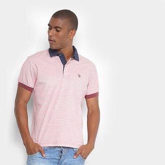 Camisa Polo U.S. Polo Assn Mini Print Masculina 2ea183bd8e8a9