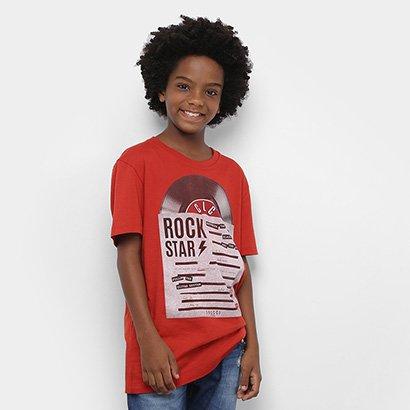 Camiseta Infantil Colcci Fun Rock Star Masculina