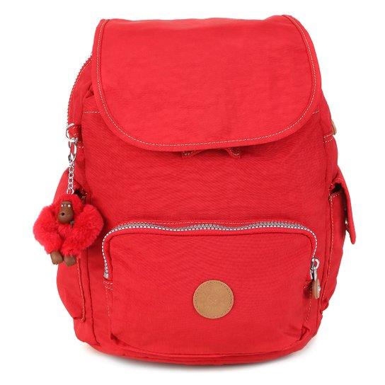 b46775179 Mochila Kipling City Pack Feminina - Vermelho