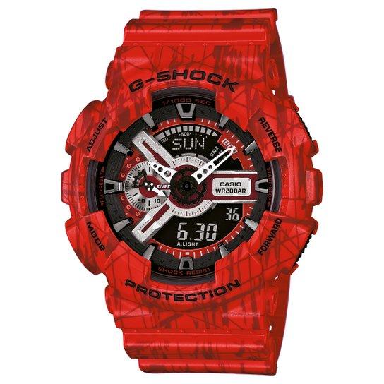 7690f7de352 Relógio G-Shock GA-110 - Vermelho - Compre Agora