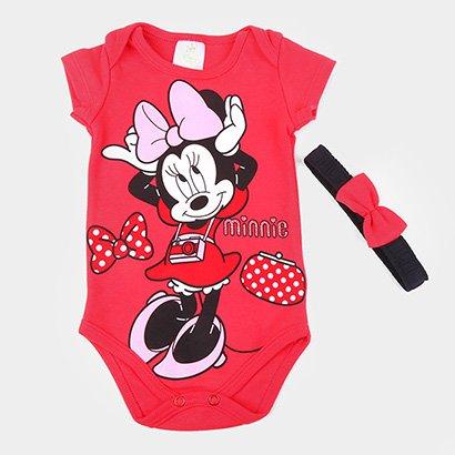 Body Infantil Marlan Disney Minnie Com Tiara Feminino