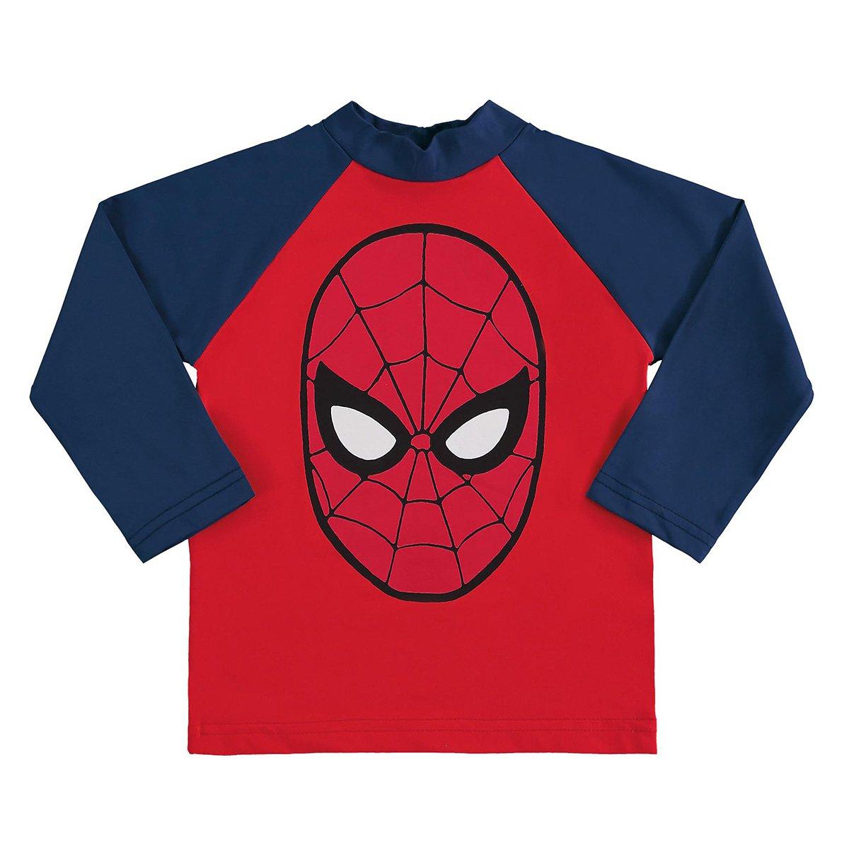 Camiseta Bebê Marlan Proteção UV Marvel Vingadores Manga Longa Masculina