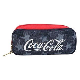 0a17112b6d726 Necessaire Coca-Cola American Flag Feminina