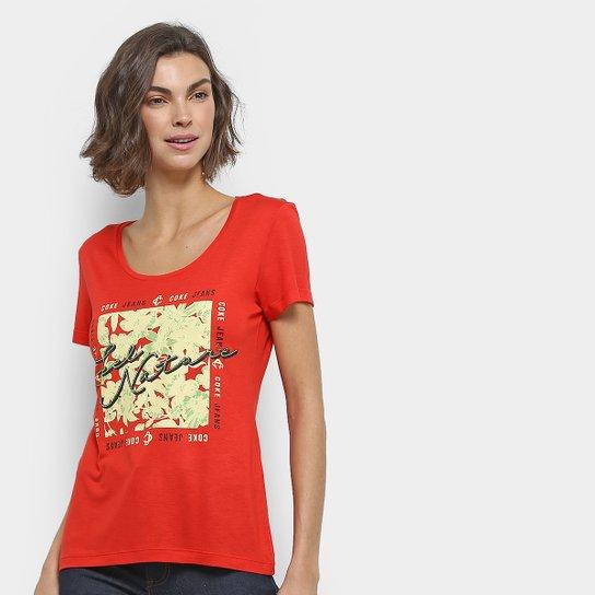 Camiseta Coca-Cola Estampada Feminina - Vermelho - Compre Agora ... 90fdac5ae9