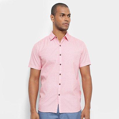Camisa Manga Curta JAB Estampada Masculina