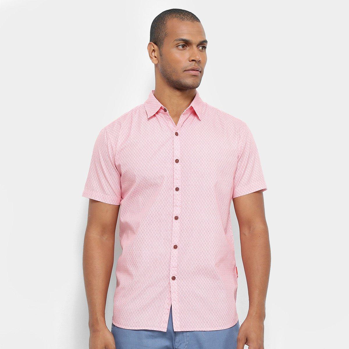 Foto 1 - Camisa Manga Curta JAB Estampada Masculina