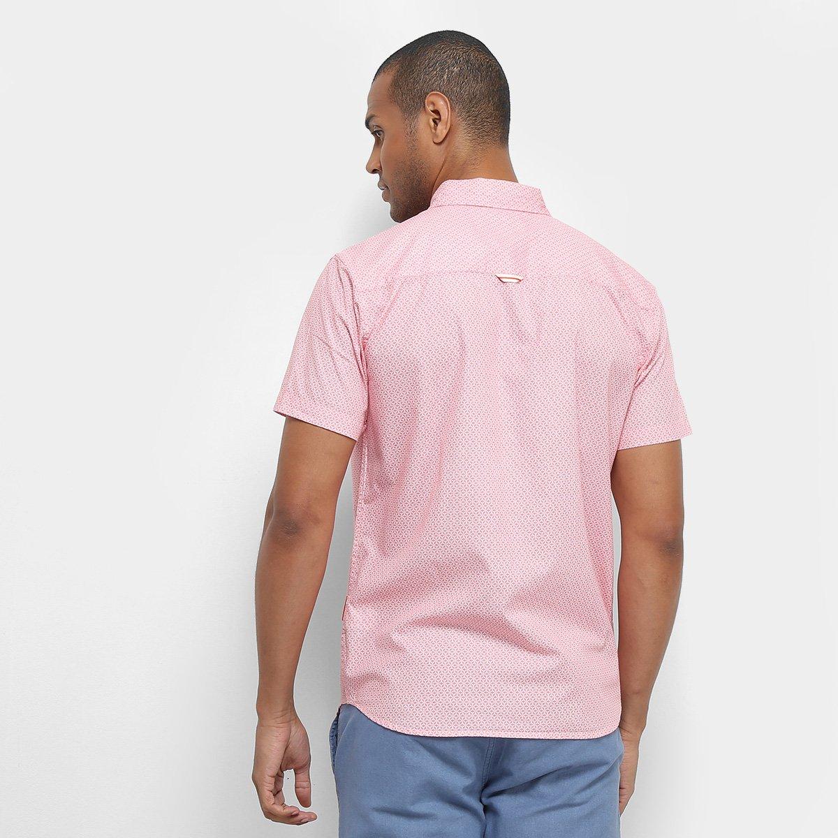Foto 2 - Camisa Manga Curta JAB Estampada Masculina