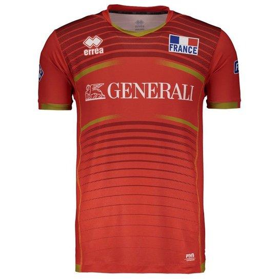 Camisa Errea França Vôlei Third 2017 - Vermelho - Compre Agora ... 328dbc9baa29c