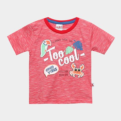 Camiseta Infantil Kiko & Kika Too Cool Masculina