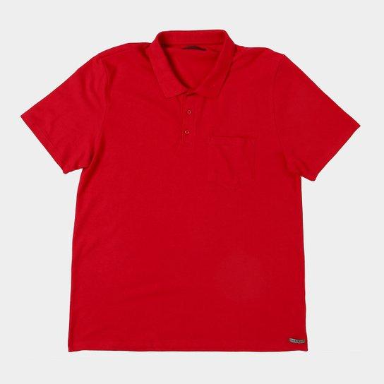 Camisa Polo Kohmar Piquet Plus Size Masculina - Vermelho - Compre ... ed2691776391c