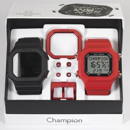 758faca4b5e Relógio Champion YOT c  Pulseiras e Acessórios - Vermelho+Preto