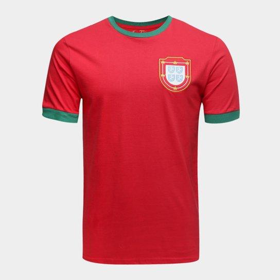 b6e63c7582 Camiseta Portugal 1966 Retrô Times Masculina - Vermelho - Compre ...