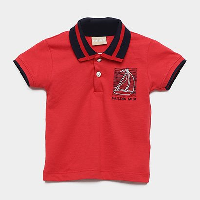 Camisa Polo Infantil Milon Sailing Masculina