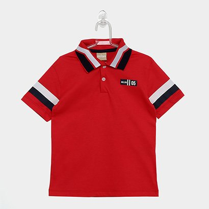 Camisa Polo Infantil Milon Listra Masculina