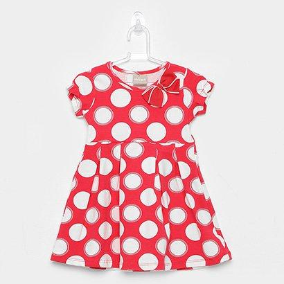 Vestido Infantil Milon Cotton Bolas e Laço