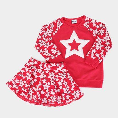 Conjunto Juvenil Nanai Malha Estrelas Feminino