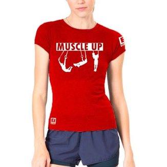 313212a7a7 Camiseta Baby Look Feminina Muscle UP - Enforce Fitness-G-Vermelho