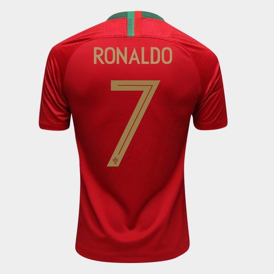 Camisa Seleção Portugal Home 2018 n° 7 Ronaldo - Torcedor Nike Masculina -  Vermelho 57b13f48db541
