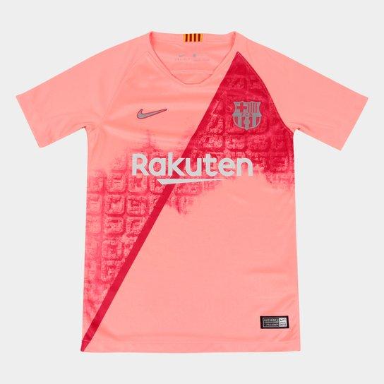 Camisa Barcelona Infantil Third 2018 s n° - Torcedor Nike - Salmão ... eb143e436419c