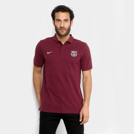 Camisa Polo Barcelona Nike Masculina - Vermelho - Compre Agora ... b59510b1020c6