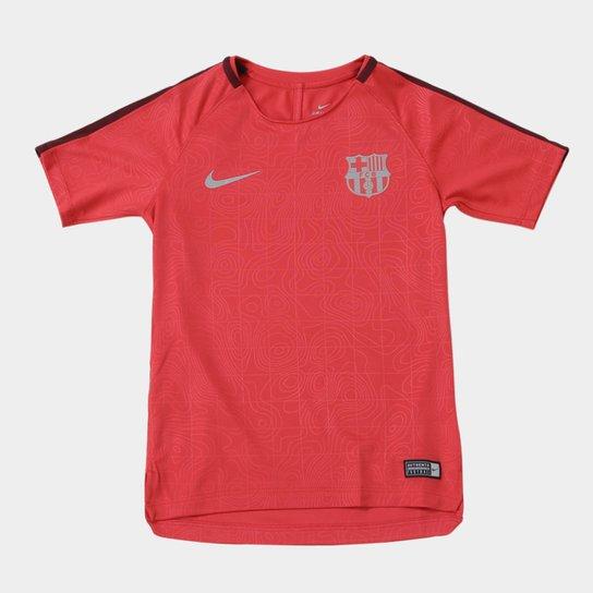 Camisa Barcelona Infantil Nike Dry Squad - Vermelho - Compre Agora ... 5cce2f64c9282