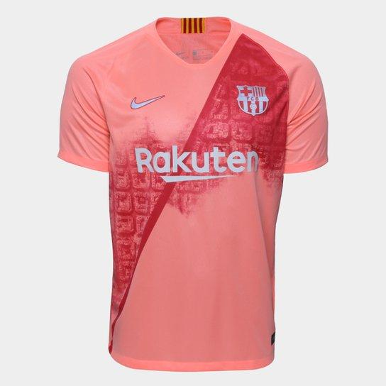 83851029dc1b0 Camisa Barcelona Third 2018 s nº - Torcedor Nike Masculina - Salmão ...